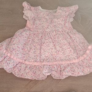 Pink & Purple flower dress with bloomers